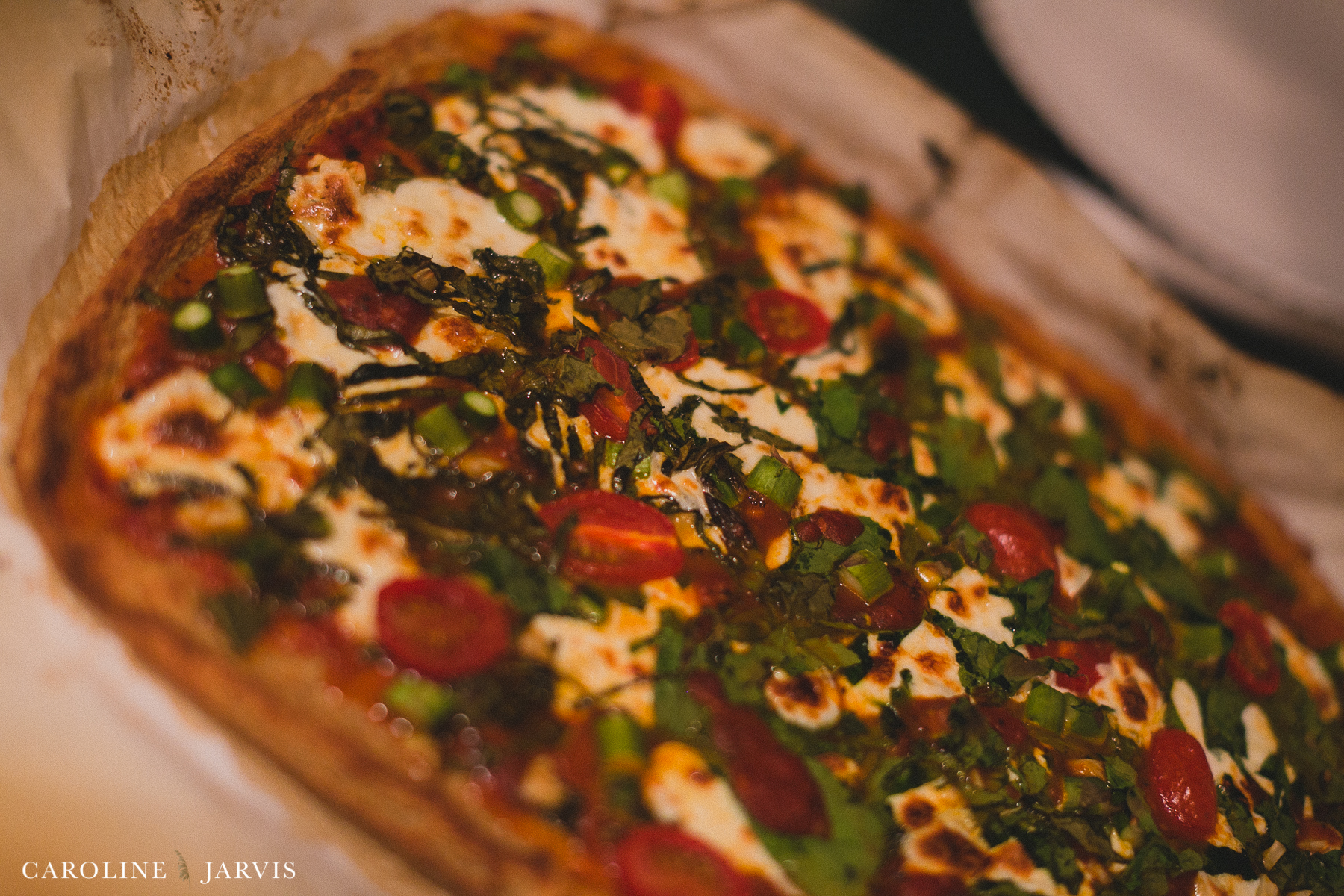 Cauliflower Pizza - Homemade and Gluten Free by Caroline Jarvis Photography