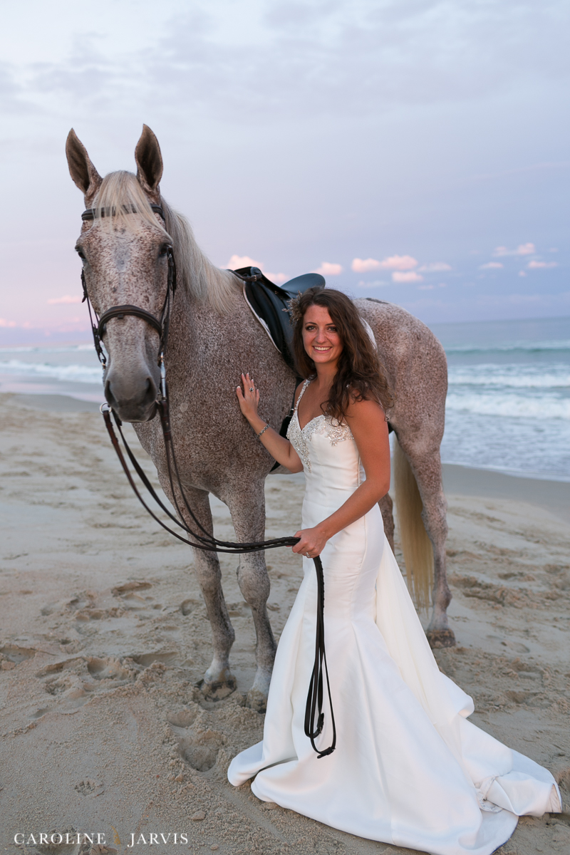 Outer Banks Bride | Sunset Bridal Session by Caroline Jarvis Photography