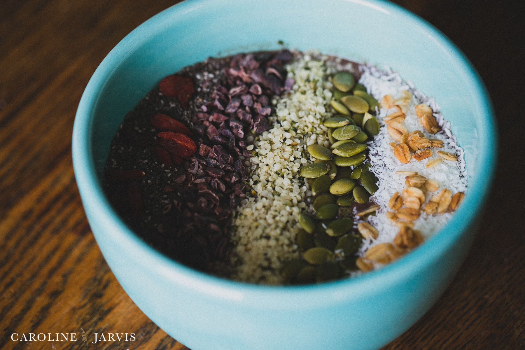 Acai Bowl - Superfood Smoothie by Caroline Jarvis Photography