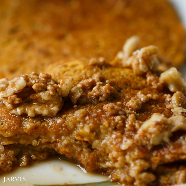 Sweet Potato Pancakes with Almond Butter Maple Syrup