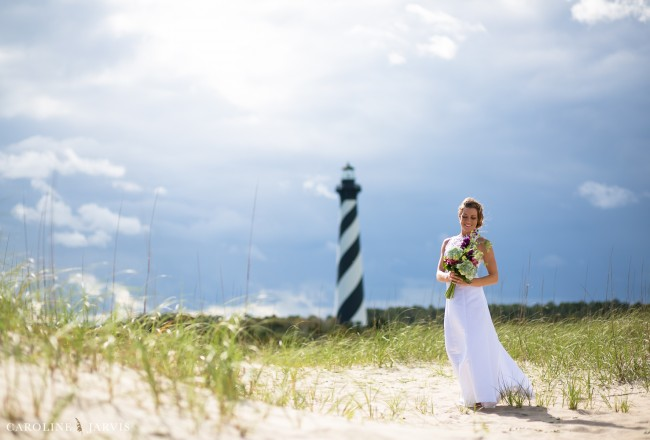 The Outer Banks Bride on Hatteras Island