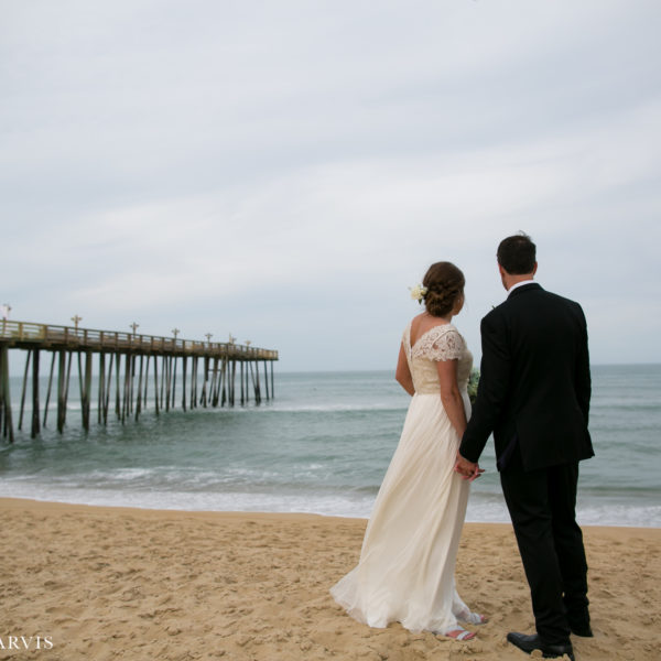 Kitty Hawk Pier Wedding - Mr. & Mrs. Hubbard