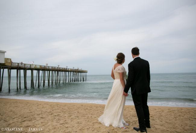 Kitty Hawk Pier Wedding - Mr. & Mrs. Hubbard
