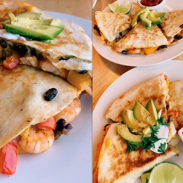 Wanchese Shrimp Quesadillas :) Caught Um, Cleaned Um, Cooked Um, Ate Um.